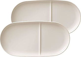 Villeroy & Boch Soup Passion Soup/ Sandwich Tray Set of 2 by Villeroy & Boch - Premium Porcelain - Made in Germany - Dishwasher and Microwave Safe - 13 x.25 Inches