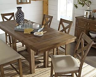 Ashley Furniture Moriville Counter Height Dining Room Extension Table, Grayish Brown