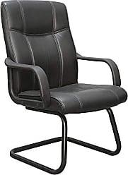 Pelegrin Cadeira interlocutor Pel-229v em couro pu preta - Pelegrin