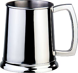 Visol Products VisolDortmund Polished Stainless Steel Beer Mug, 16-Ounce, Chrome