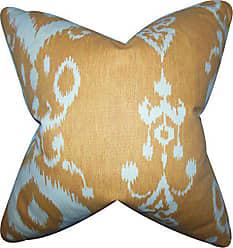 The Pillow Collection Katti Ikat Pillow, Amber
