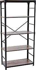 Walker Edison WE Furniture AZS64AIRO Bookshelf, 64, Rustic Oak