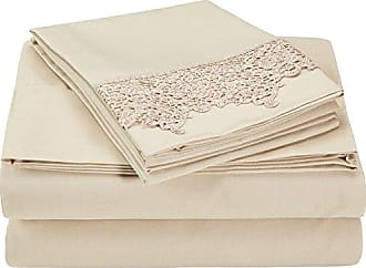 Superior 100% Brushed Microfiber Wrinkle Resistant California King Sheet Set, 4-Piece, Tan