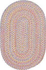 Rhody Rug Sandbox Pink Multi 2X3 Oval