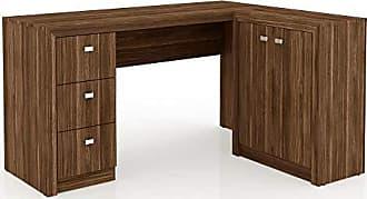 Tecno Mobili Mesa para Home Office com Gavetas e 2 Portas Nogal - Tecno Mobili