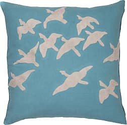 Jaipur Living Rugs Jaipur Aerial Birds Cotton Decorative Pillow Apricot Orange / Sandshell Polyester Fill - PLW102405