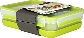 Emsa Clip /& Go Contenitore Brunch Trasparente//Verde Chiaro 22.5 x 16.3 x 5.8 cm