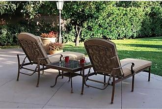 DARLEE Santa Barbara 3 Piece Aluminum Outdoor Chaise Lounge Set - 201010-3PC-3377A-AB