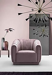 Iconic Home FCC9240-AN Van Gogh Club Chair Velvet Upholstered Vertical Channel-Quilted Shelter Arm Design Modern Contemporary Blush