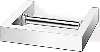 Zack Zack 40031 Linea Wall Mounted Toilet Roll Holder, 5.9 by 5.9-Inch, High Gloss Finish