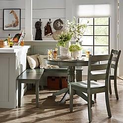 Weston Home Lexington 5 Piece Breakfast Nook Round Dining Set - Dark Sea Green - 68E55742AQ5NKC4