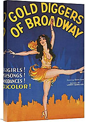 Bentley Global Arts Global Gallery Budget GCS-449798-1624-142 Unknown Vintage Film Posters: Gold Diggers of Broadway Gallery Wrap Giclee on Canvas Wall Art Print