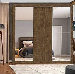 Leifer Guarda Roupa Casal com Espelho 3 Portas Accord Flex Leifer Ypê