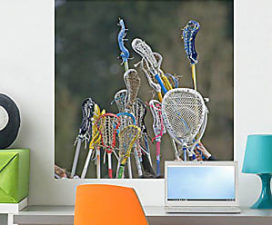 Wallmonkeys Lacrosse Sticks to The Sky Wall Decal Peel and Stick Graphic WM205968 (24 in W x 24 in H)