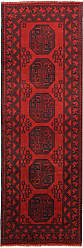 Nain Trading Afghan Akhche Rug 81x29 Runner Dark Brown/Rust (Afghanistan, Hand-Knotted, Wool)