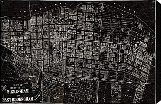 Hatcher & Ethan East Birmingham 1872 Map Canvas Art - HE12981_60X40_CANV_XXHD_HE