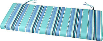 Cushion Source 39 x 17 in. Striped Sunbrella Bench Cushion Davidson Redwood - YVAJD-5606