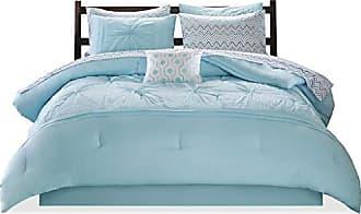 INTELLIGENT DESIGN Toren Comforter Set Twin Size Bed in A Bag - Aqua, Medallion - 7 Piece Bed Sets - Ultra Soft Microfiber Teen Bedding for Girls Bedroom