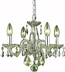 Elegant Lighting 7804 Rococo Collection Hanging Fixture D15in H12in Lt:4 Golden Shadow Finish (Royal Cut Golden Shadow Champagne)