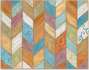 Gallery Direct Rustic Chevron Wood Box Wall Art - 97951AW000
