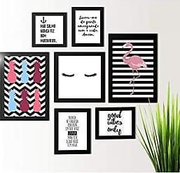 Los Quadros Kit de Quadros Decorativos Abacaxi Flamingo Los Quadros
