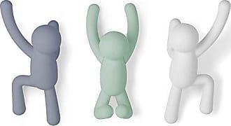 Plastik Handt/ücher und Mehr Taschen Schals Rucks/äcke Dekorativer T/ürhaken f/ür Jacken Umbra Buddy 2 Garderobenleiste Schwarz 21.59 x 6.35 x 31.75 cm