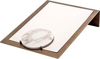 Salvatori Balancing Document Holder In Calacatta Vagli & Brass By Studiocharlie