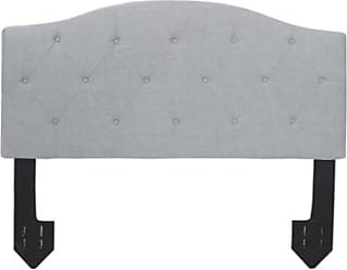 Ashley Furniture Bridget Queen Diamond Tufted Powered Headboard, Light Gray