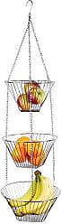 Fox Run Craftsmen Fox Run 6312COM Three Tier Hanging Wire Baskets, 11 x 11 x 6.75 inches, Metallic
