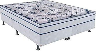 Ortobom Conjunto Cama Box Physical com Colchão Queen Molas Nanolastic Confort (20x158x198) Branco
