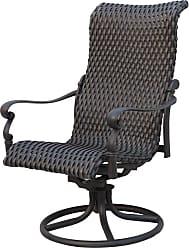 DARLEE Outdoor Darlee Victoria Wicker Swivel Rocker Patio Chair - Set of 2 - ELIT429-1