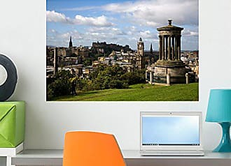 Wallmonkeys Edinburgh View from Calton Hill to The Castle Wall Decal Peel and Stick Graphic WM217458 (24 in W x 16 in H)