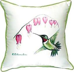 Betsy Drake SN030 Hummingbird Small Indoor/Outdoor Pillow, 12 x12