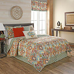 Ellery Homestyles WAVERLY 16867BEDDF/QFST Boho Passage Reversible Quilt Collection, Full/Queen, Fiesta
