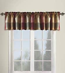 United Curtain Plaid Straight Valance, 54 by 18-Inch, Burgundy