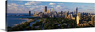 Great Big Canvas Chicago IL Skyline Day Canvas Wall Art Print - 74879_24_36X12_NONE