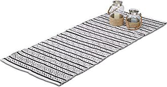 Relaxdays Teppich Läufer Flur 80x200 Cm, Baumwolle, Handarbeit, Design  Küchenläufer Kurzflor, Fußbodenheizung