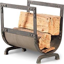 Pilgrim Home & Hearth Old World Forged Iron Wood Holder