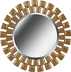 Kenroy Home Gilbert Modern Decorative Wall Mirror, 36 Inch Diameter, Gold Finish, Easy Hang D-Rings, 36 D/Large, Golden