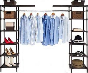 Seville Classics Expandable Closet Organizer System, Resin Slat