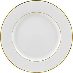 10 Strawberry Street Double Gold Line 12.25 Charger Plate, Set of 6, White/Gold