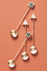 Anthropologie Gemstone Small Spoons, Set of 4