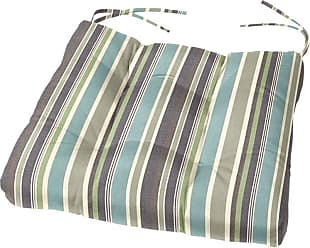 Cushion Source 18 x 18 in. Striped Sunbrella Chair Cushion Foster Surfside - HSKNK-56049