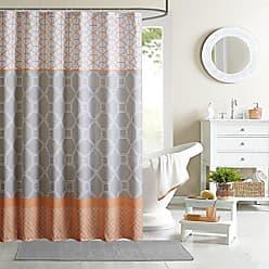 INTELLIGENT DESIGN Shower Curtain Orange/72x72