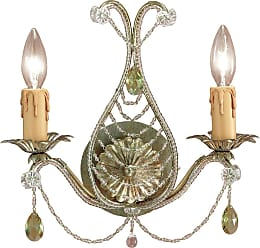 Crystorama Odette Collection Wrought Iron Sconce in Gold Leaf