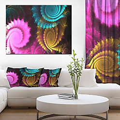 DESIGN ART Designart Color Swirl Fractal Abstract Background Canvas Artwork 12 H x 20 W x 1 D 1P Gold