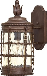Minka Lavery The Great Outdoors 1 Light Wall Mount In Vintage Rust Powder Coat Finish W/ Champagne Hammered Glass