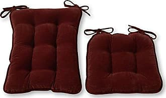 Greendale Home Fashions Standard Rocking Chair Cushion Set, Cherokee Solid, Wine