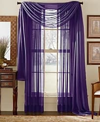 Elegant Comfort 2-Piece Sheer Panel with 2inch Rod Pocket - Window Curtains 60-inch Width X 84-inch Length - Purple