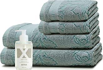 Artex Kit Sabonete Líquido Artex + Toalhas Barra Aveludada Le Bain Leaf